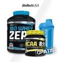 Bio Tech Iso Whey Zero 2270g + BioTech BCAA 8:1:1 Zero 250g + Shaker