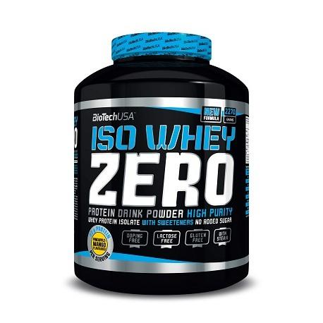 BioTech Iso Whey Protein Zero laktosefrei 2270g verschiedene Geschmäcke