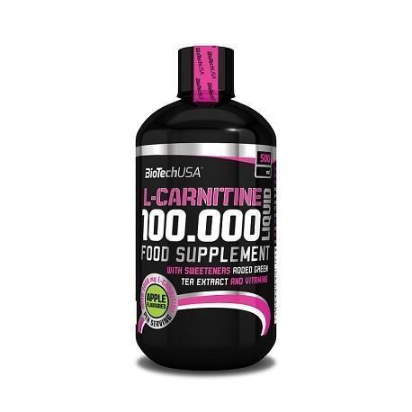 Bio Tech L-Carnitine 100.000 Liquid 500ml verschiedene Geschmäcke